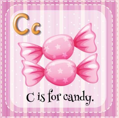 44063922 - letter c is for candy illustration